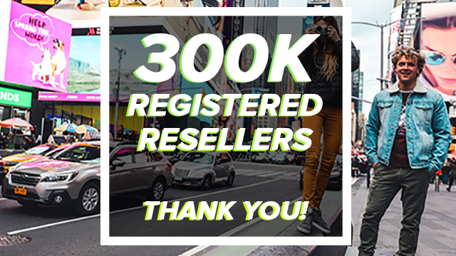 300k registered resellers - Brandsdistribution